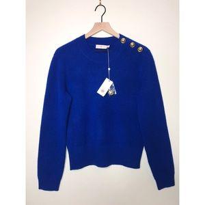 Tory Burch Blue Rose Sweater